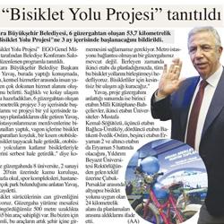 27.11.2019 – Başkent Ankara / Bisiklet Yolu Projesi tanıtıldı.