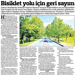 27.02.2020 – Güçlü Anadolu / Bisiklet yolu için geri sayım.