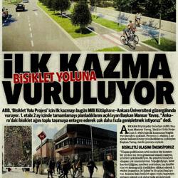 26.02.2020 – Hürriyet Ankara / Bisiklet yoluna ilk kazma vuruluyor.