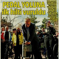 28.02.2020 – Hürriyet Ankara / Pedal yoluna ilk hilti vuruldu.