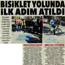 29.02.2020 – Posta Ankara / Bisiklet yolunda ilk adım atıldı