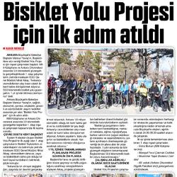 28.02.2020 – Zafer Gazetesi / Başkentte Bisiklet yolu Projesi için ilk adım atıldı.