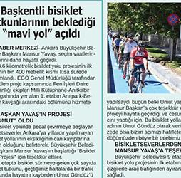 17.08.2020 – 24 Saat / Başkentli bisiklet tutkunlarının beklediği mavi yol açıldı