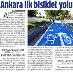 13.08.2020 – Anadolu / Ankara ilk bisiklet yoluna kavuştu