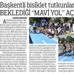 17.08.2020 – Anadolu / Başkentli bisiklet tutkunlarının beklediği mavi yol açıldı