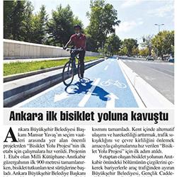 13.08.2020 – Başkent Gazetesi / Ankara ilk bisiklet yoluna kavuştu
