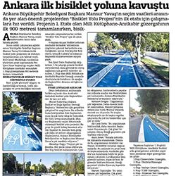 13.08.2020 – Güçlü Anadolu / Ankara ilk bisiklet yoluna kavuştu