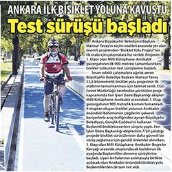 13.08.2020 – Milliyet Ankara / Ankara ilk bisiklet yoluna kavuştu