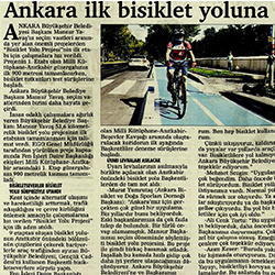 30.08.2020 – Başkent Postası / Ankara ilk bisiklet yoluna kavuşuyor