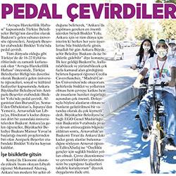 11.09.2020 – Milliyet Ankara / Pedal Çevirdiler