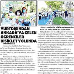 11.09.2020 – Sonsöz / Yurtdışından Ankara'ya Gelen Öğrenciler Bisiklet Yolunda