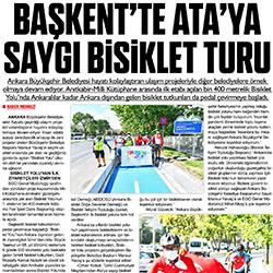 27.08.2020 – Zafer / Başkent'te Ata'ya saygı bisiklet turu