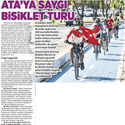 27.08.2020 – Milliyet Ankara / Ata'ya saygı bisiklet turu