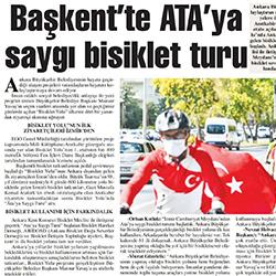 27.08.2020 – Başkent Gazetesi / Başkent'te Ata'ya saygı bisiklet turu