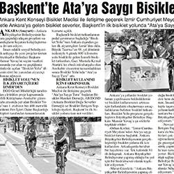 27.08.2020 – Anayurt / Başkent'te Ata'ya saygı bisiklet turu
