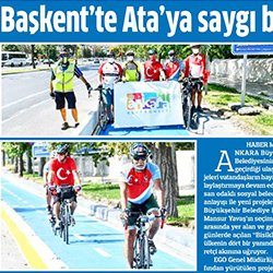 27.08.2020 – Anadolu / Başkent'te Ata'ya saygı bisiklet turu