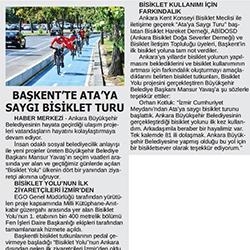 27.08.2020 – 24 Saat / Başkent'te Ata'ya saygı bisiklet turu