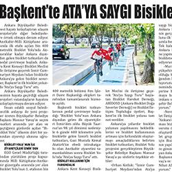 29.08.2020 – Göl Haber / Başkent'te Ata'ya saygı bisiklet turu