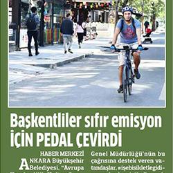 24.09.2020 – Anadolu / Başkentliler sıfır emisyon için pedal çevirdi