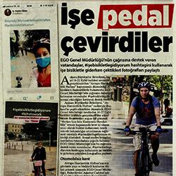 24.09.2020 – Milliyet Ankara / İşe pedal çevirdiler