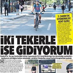 24.09.2020 – Hürriyet Ankara / İki tekerle işe gidiyorum