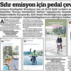 24.09.2020 – Güçlü Anadolu / Sıfır emisyon için pedal çevirdiler