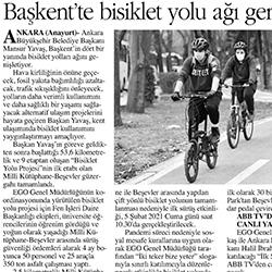 04.02.2021 – Anayurt / Başkent'te bisiklet yolu ağı genişliyor