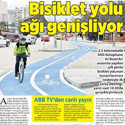 04.02.2021 – Milliyet Ankara /  Bisiklet yolu ağı genişliyor