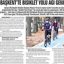 04.02.2021 – Sonsöz / Başkent'te bisiklet yolu ağı genişliyor